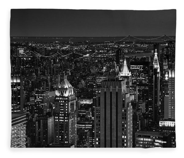 Night In Manhattan Fleece Blanket
