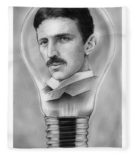 Nikola Tesla Fleece Blanket