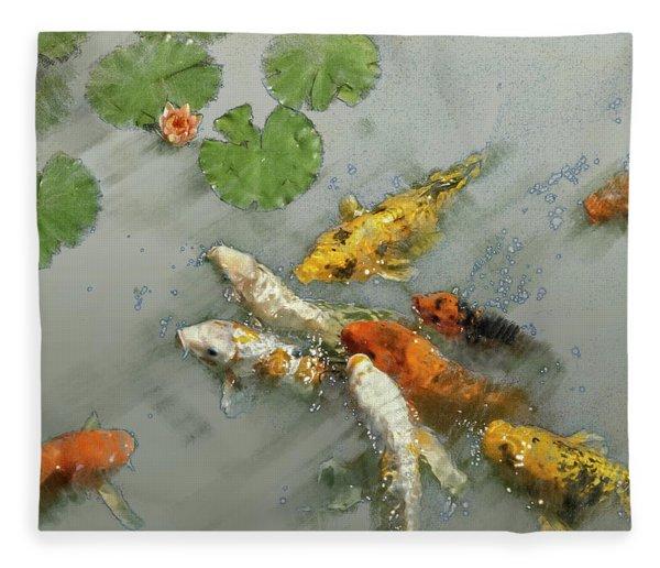 Nishikigoi 2 Fleece Blanket