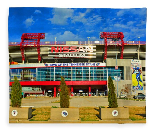 Nissan Stadium Home Of The Tennessee Titans Fleece Blanket