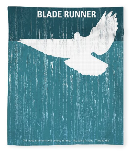 No011 My Blade Runner Minimal Movie Poster Fleece Blanket