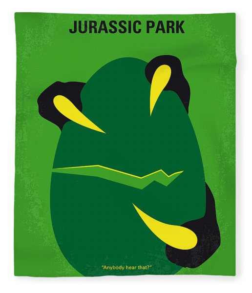 No047 My Jurassic Park Minimal Movie Poster Fleece Blanket