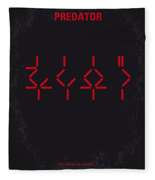 No066 My Predator Minimal Movie Poster Fleece Blanket