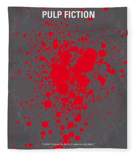 No067 My Pulp Fiction Minimal Movie Poster Fleece Blanket