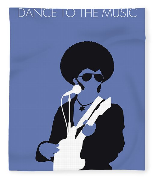 No088 My Sly And The Family Stone Minimal Music Poster Fleece Blanket