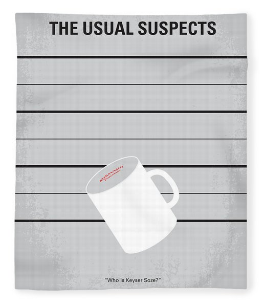 No095 My The Usual Suspects Minimal Movie Poster Fleece Blanket