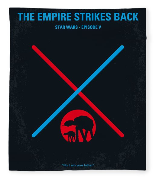 No155 My Star Wars Episode V The Empire Strikes Back Minimal Movie Poster Fleece Blanket