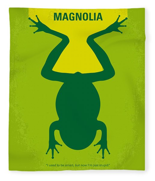 No159 My Magnolia Minimal Movie Poster Fleece Blanket