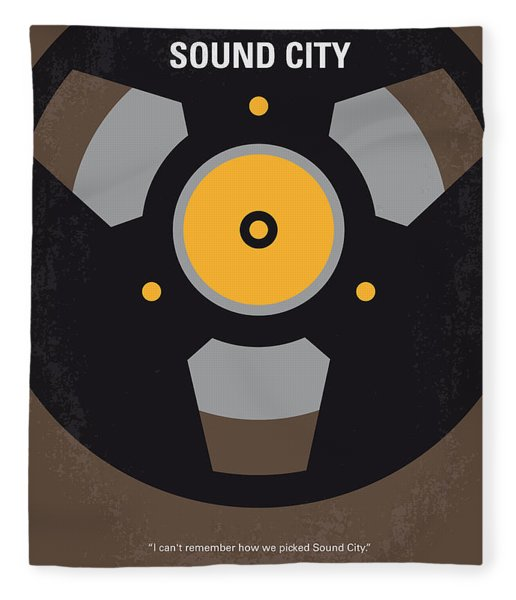No181 My Sound City Minimal Movie Poster Fleece Blanket