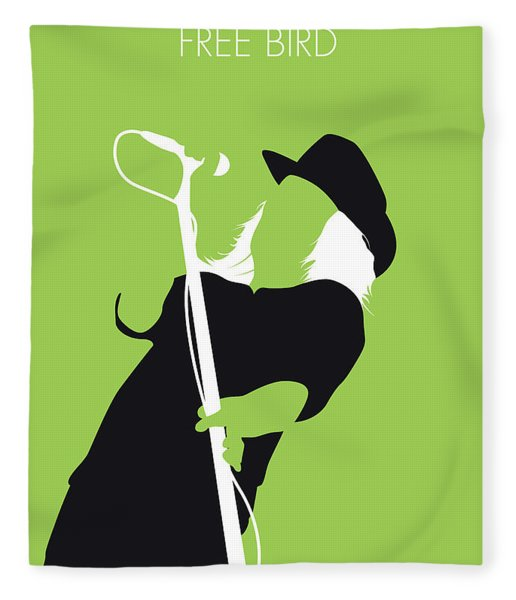 No196 My Lynyrd Skynyrd Minimal Music Poster Fleece Blanket