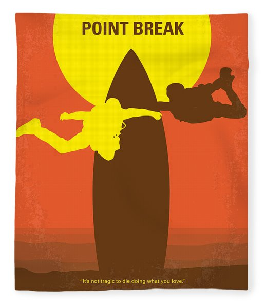 No455 My Point Break Minimal Movie Poster Fleece Blanket