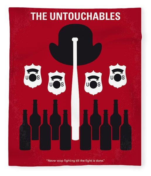 No463 My The Untouchables Minimal Movie Poster Fleece Blanket