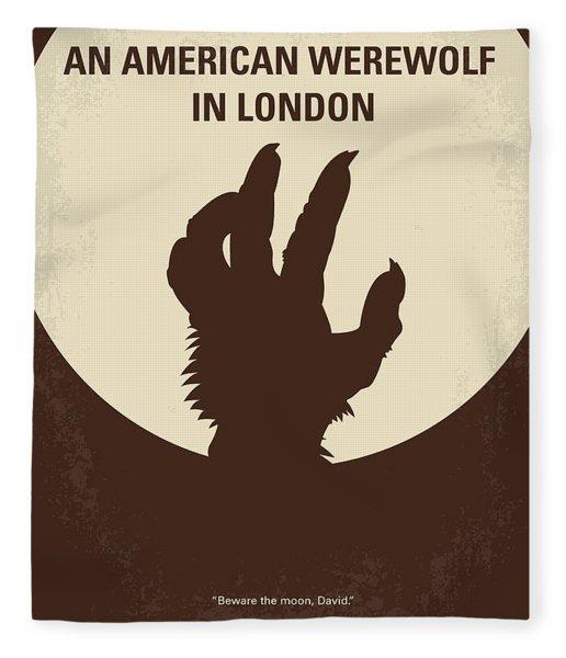 No593 My American Werewolf In London Minimal Movie Poster Fleece Blanket