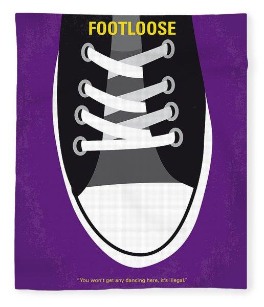 No610 My Footloose Minimal Movie Poster Fleece Blanket