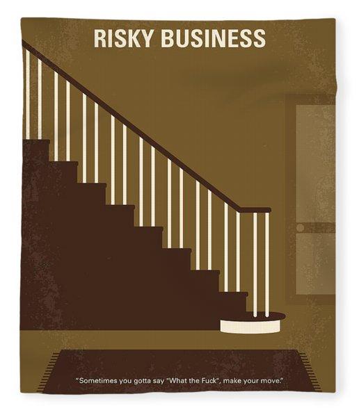 No615 My Risky Business Minimal Movie Poster Fleece Blanket