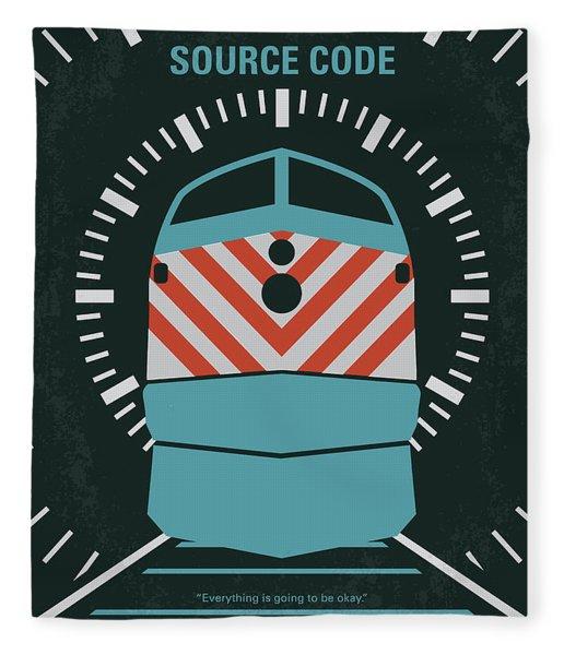 No685 My Source Code Minimal Movie Poster Fleece Blanket