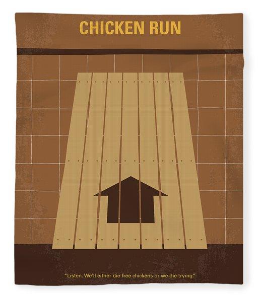 No789 My Chicken Run Minimal Movie Poster Fleece Blanket