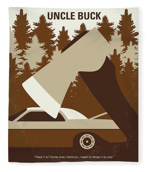 No818 My Uncle Buck Minimal Movie Poster Fleece Blanket