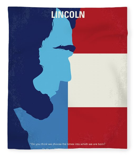 No895 My Lincoln Minimal Movie Poster Fleece Blanket