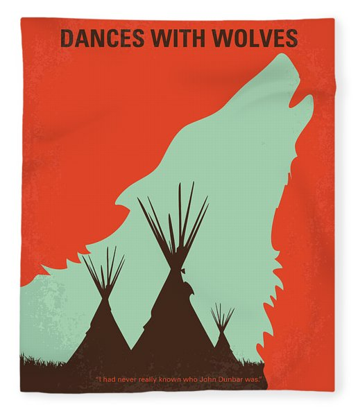 No949 My Dances With Wolves Minimal Movie Poster Fleece Blanket