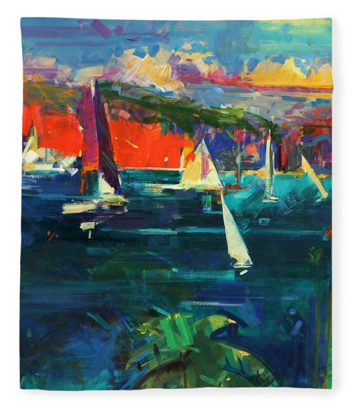 North Head  Sydney Harbour Fleece Blanket