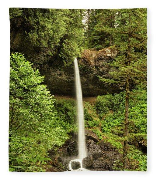 North Silver Falls Fleece Blanket