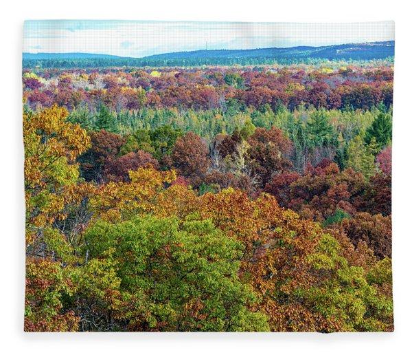 Northern Michigan Fall Fleece Blanket