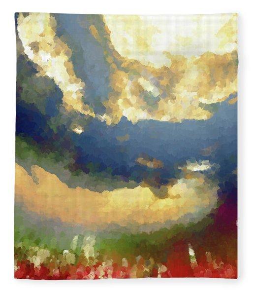 Fleece Blanket featuring the digital art Novam Mortem by Matt Lindley