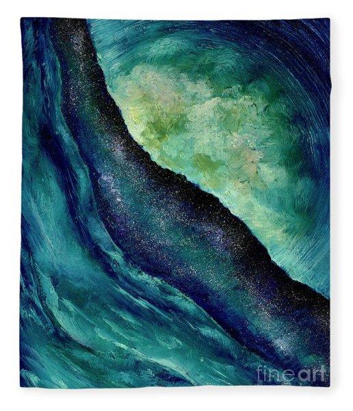 Ocean Meets Sky Fleece Blanket