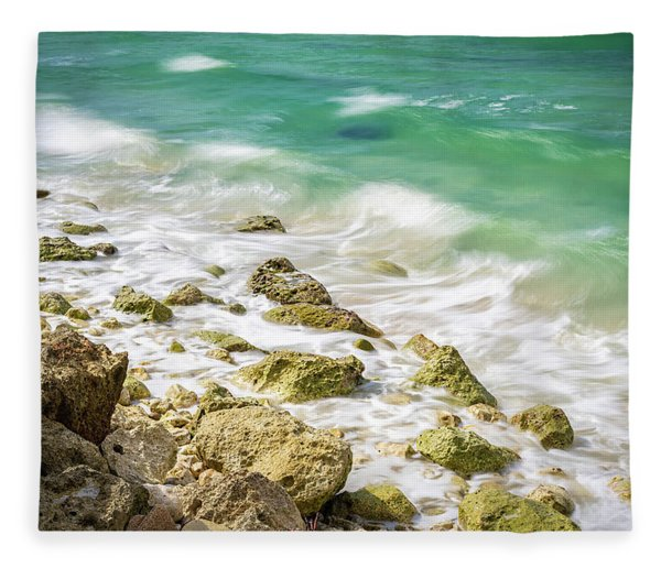 Oceanside In Trelawny, Jamaica Fleece Blanket