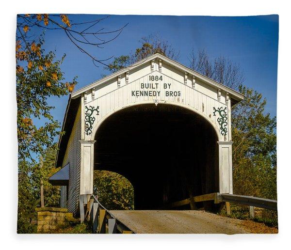 Offutt's Ford Covered Bridge Fleece Blanket
