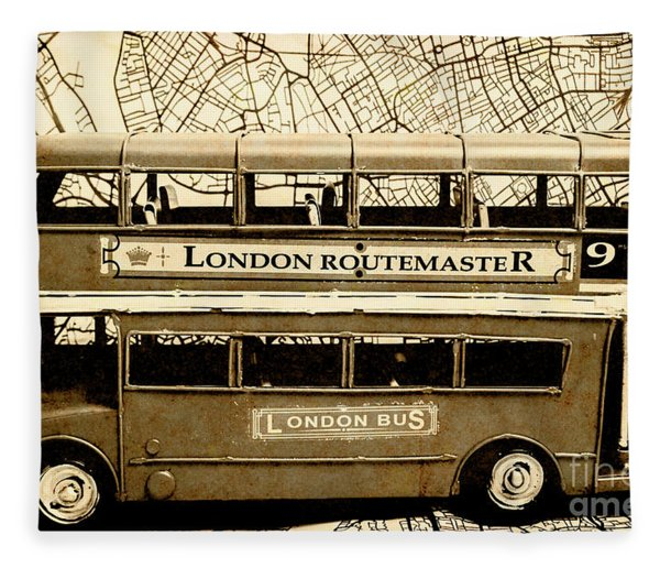Old City Bus Tour Fleece Blanket