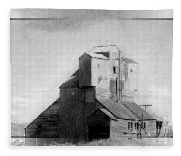 Old Grain Elevator Fleece Blanket