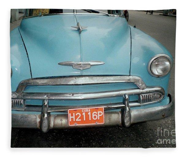 Old Havana Cab Fleece Blanket