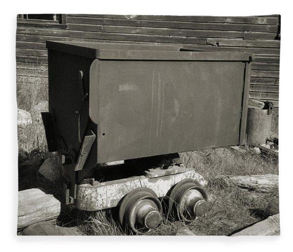 Old Mining Cart Fleece Blanket
