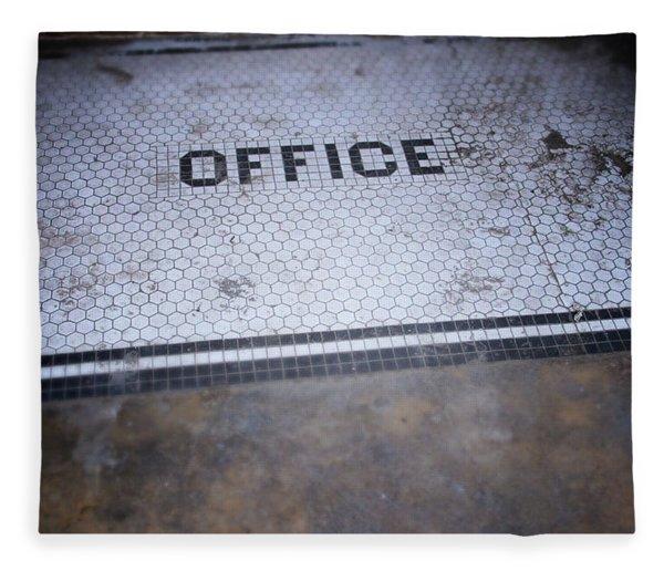 Old Office- Urban Photography By Linda Woods Fleece Blanket