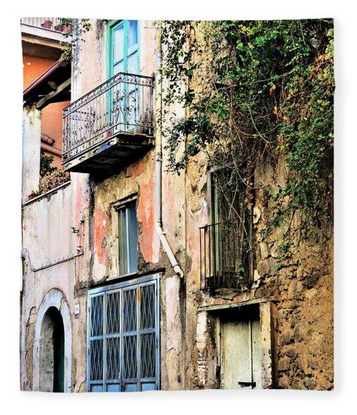 Old Sorrento Street Fleece Blanket