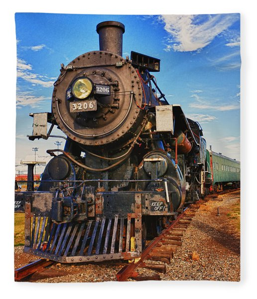Old Train Fleece Blanket