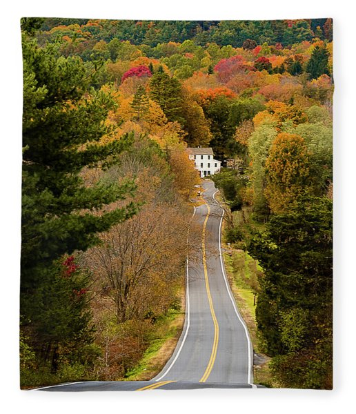 On The Road To New Paltz Fleece Blanket