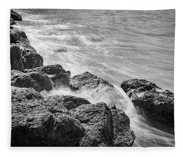 Ocean Rocks Fleece Blanket