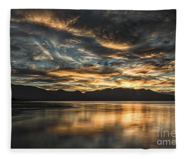 On The Wings Of The Night Fleece Blanket