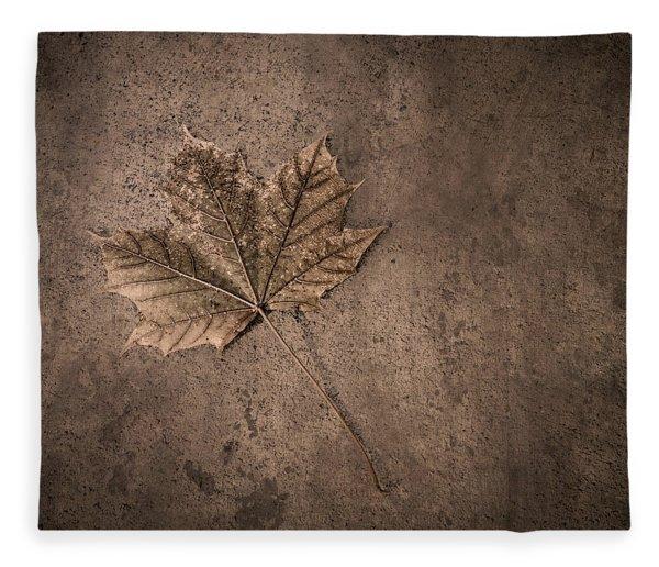 One Leaf December 1st  Fleece Blanket