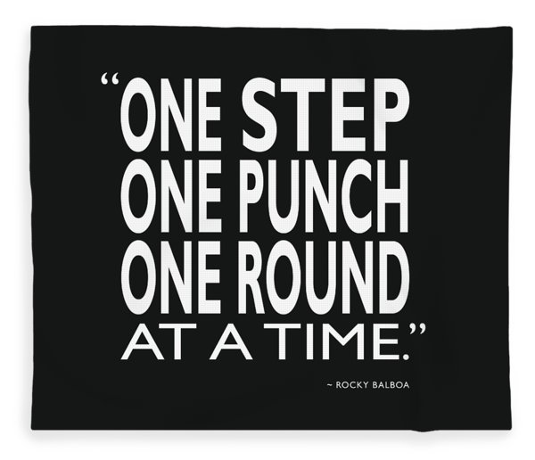 One Step One Punch One Round Fleece Blanket