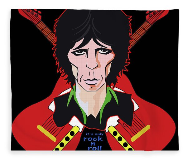 Only Rock N Roll Fleece Blanket