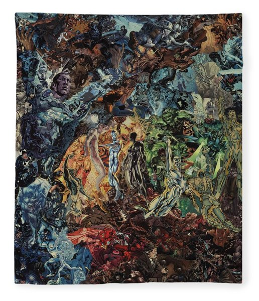 Opening Of The Fifth Seal After El Greco Fleece Blanket