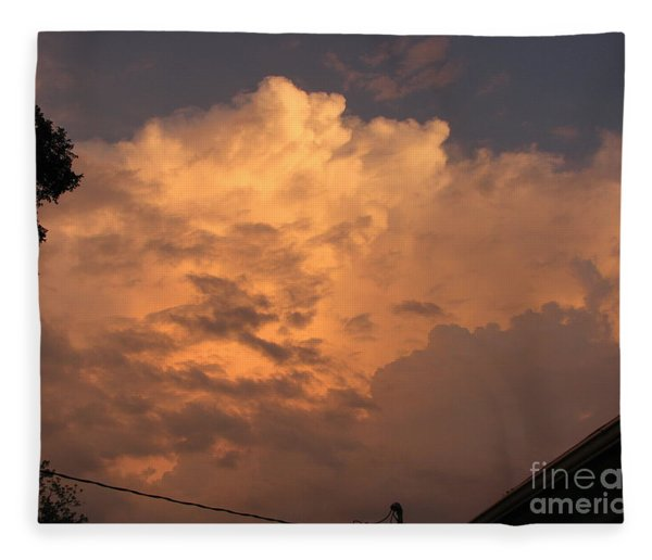 Orange Hue Fleece Blanket