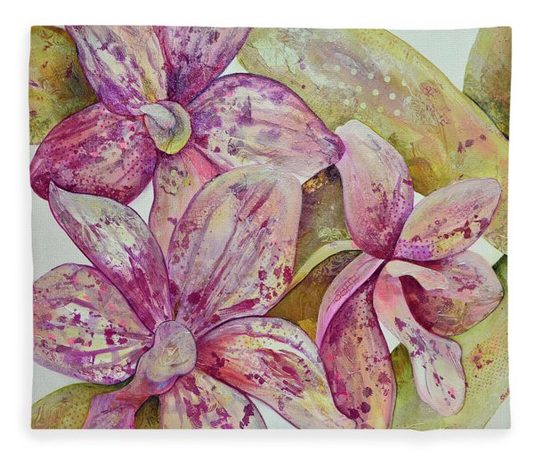 Orchid Envy Fleece Blanket