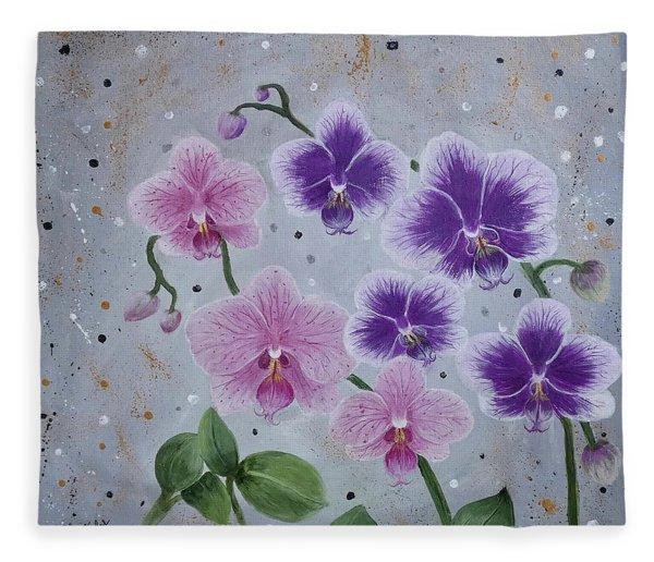 Orchids Galore Fleece Blanket