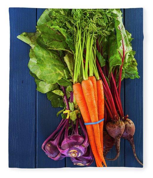 Organic Vegetables Fleece Blanket
