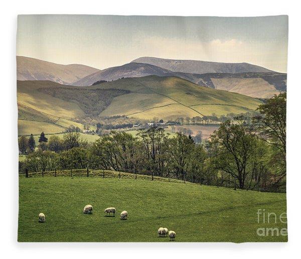 Over The Hills And Far Away Fleece Blanket